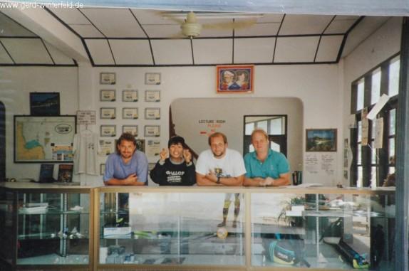 Das Team von Calypso Diving, Koh Samui 1992