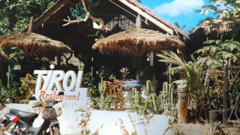 Das Restaurant Tirol auf Koh Samui, 1990