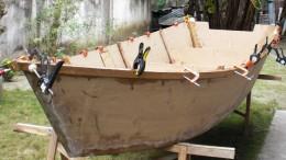 Das selbstgebaute Tauchboot nimmt langsam Form an