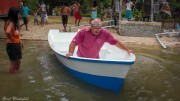 Unser selbst gebautes Tauchboot das erste mal im Wasser
