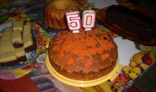 Geburtstagstorte zu meinem 50. Geburtstag