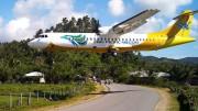 Cebu Pacific im Anflug auf den Boracay Airport