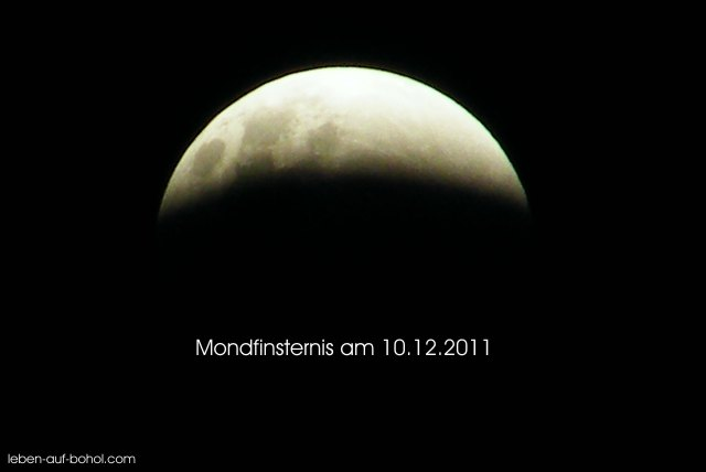 Mondfinsternis am 10.12.2011