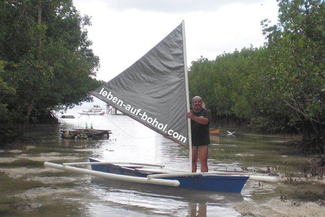 Mein kleines Segelboot auf den Philippinen