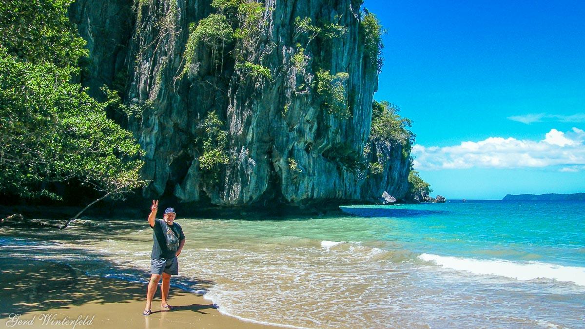 Der Strand beim Underground River auf Palawan