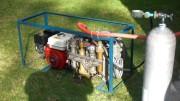 Der Tauchkompressor ist wieder im Einsatz. Erstes Flaschen füllen im Dezember 2012
