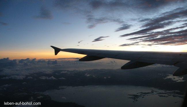 Unser Flug auf die Philippinen