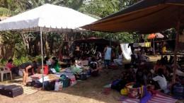 Unser Camp in den Bergen von Bohol nach dem großen Erdbeben