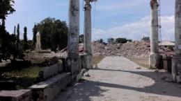 Die Kirche in Loon, Bohol nach dem großen Erdbeben