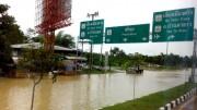 Übersschwemmung nach starken Regenfällen im Süden von Thailand