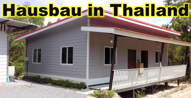 Hausbau in Thailand