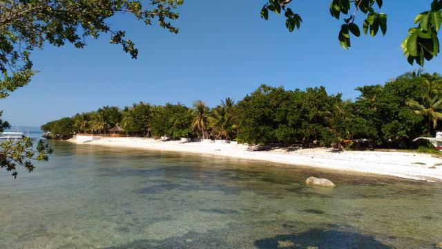 Der Strand auf Cabilao, direkt vor dem La Estrella Resort