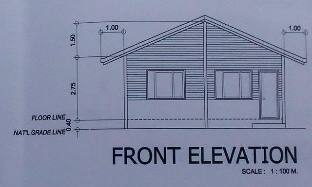 Frontansicht des zu bauenden Hauses