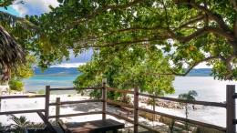 Ausblick vom Isla Hayahan Resort auf Pangangan
