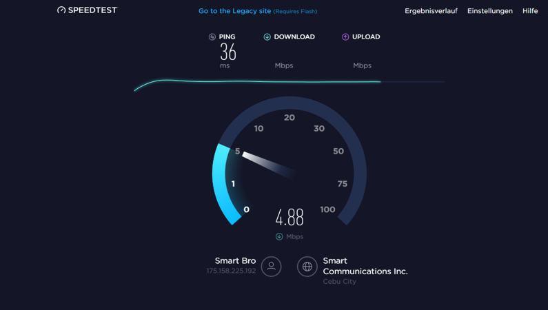Geschwindigkeitstest Internet Philippinen