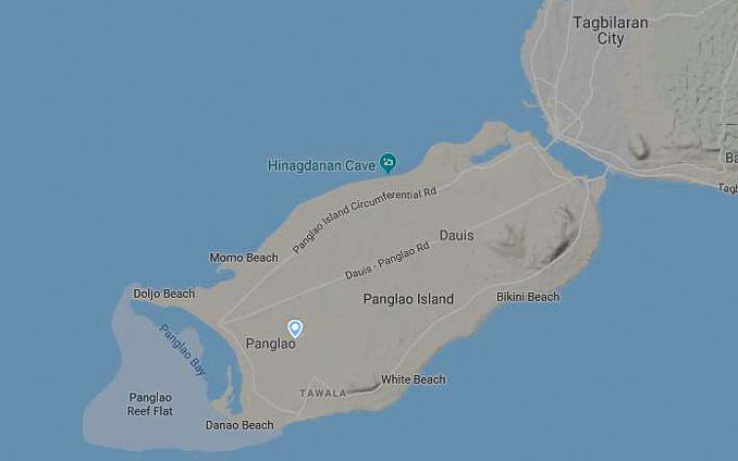 Der neue Bohol Airport auf flightradar24.com