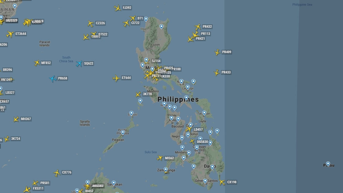 Flugverkehr Philippinen während Corona Krise