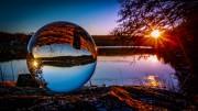 Sunset mit Glaskugel